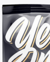 Glossy Food Bag Mockup - Front View (High-Angle Shot)