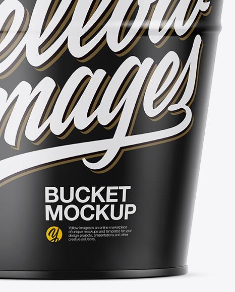 Matte Bucket Mockup - Side View