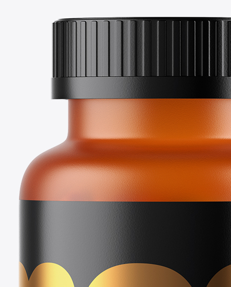 Frosted Orange Fish Oil Bottle Mockup
