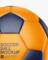 Matte Soccer Ball Mockup