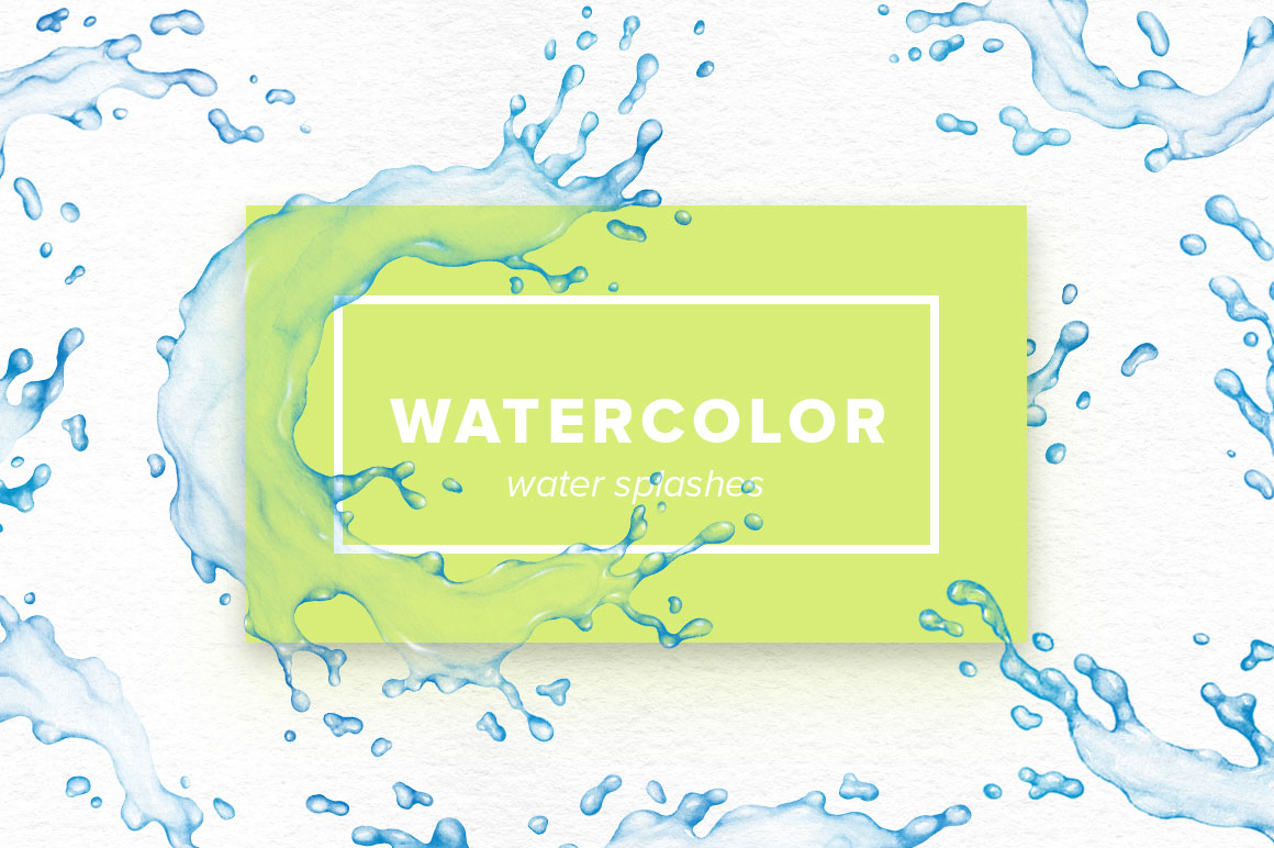 Watercolor Water Splashes