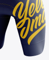 Men's Cycling Shorts v3 mockup (Back Right Half Side View)