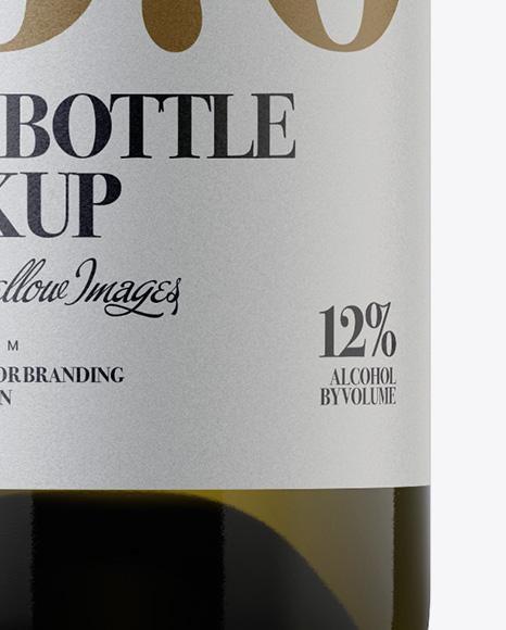 15l Green Glass Wine Bottle Mockup