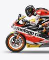 MotoGP Racer Mockup - Side View