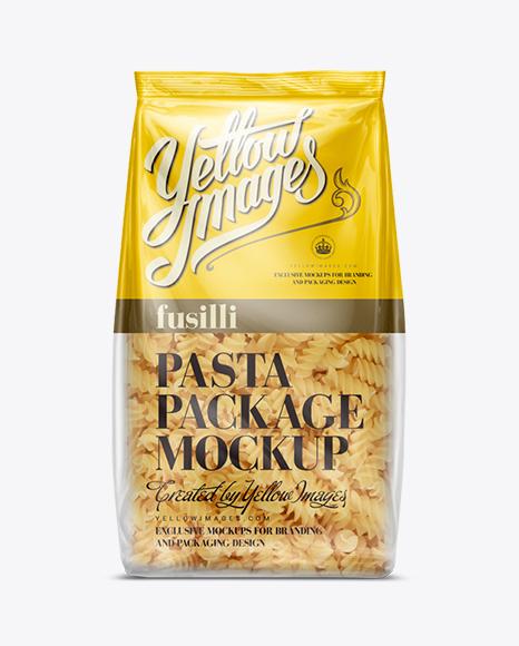 Fusilli Pasta Bag Mockup