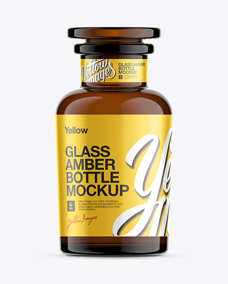 Dark Glass Reagent Bottle Mockup