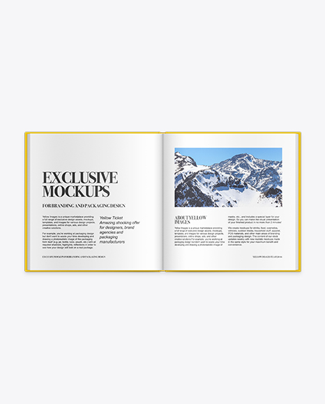 Download Hardback Book Mockup In Stationery Mockups On Yellow Images Object Mockups PSD Mockup Templates
