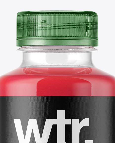 Red Drink Bottle Mockup