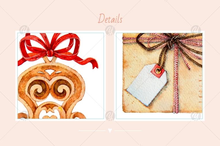 Watercolor set / Envelopes and tags