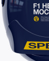 F1 Helmet Mockup - Top View