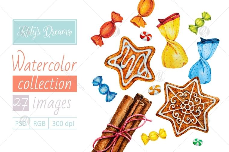 Watercolor set / Candies