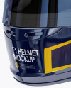 F1 Helmet Mockup - Half Side View