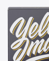 Glossy Carton Box Mockup - Front View