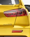 Mitsubishi Lancer Evolution X Mockup - Back View