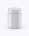 250ml Matte Plastic Jar Mockup (High-Angle Shot)