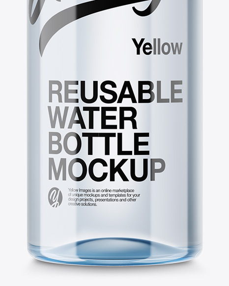 PET Plastic Reusable Water Bottle Mockup