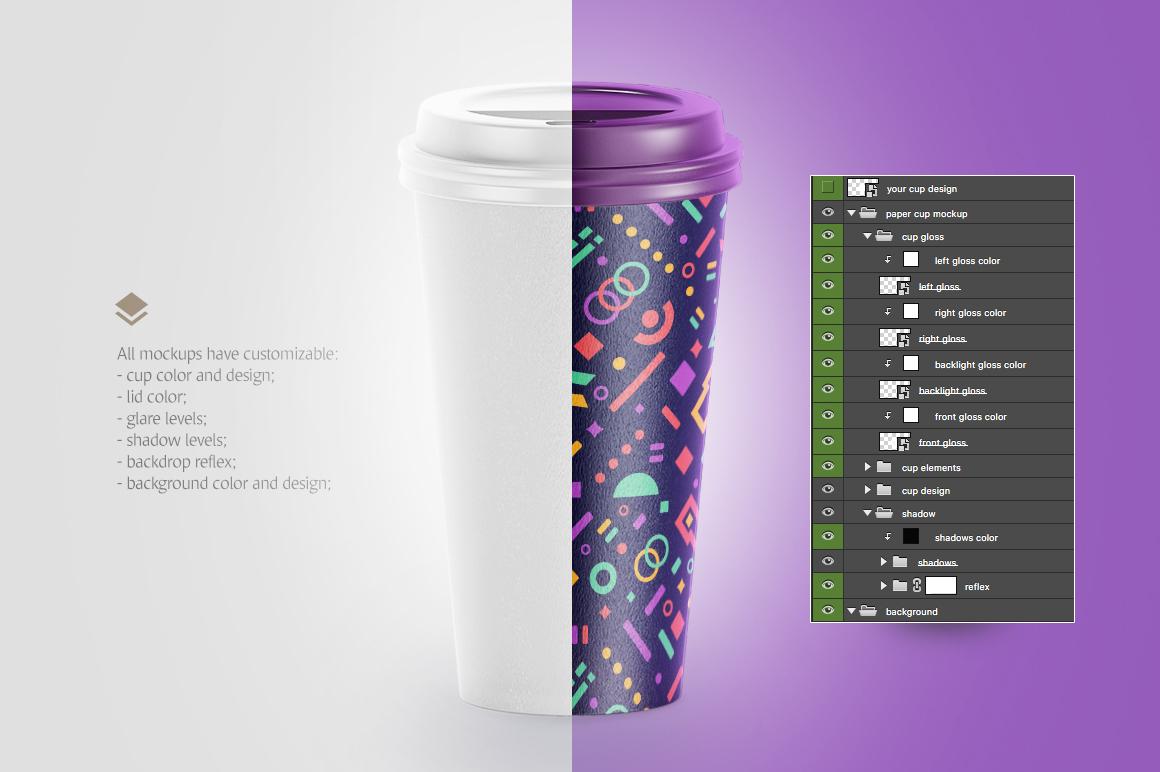Coffee Cup Animated Mockups Bundle
