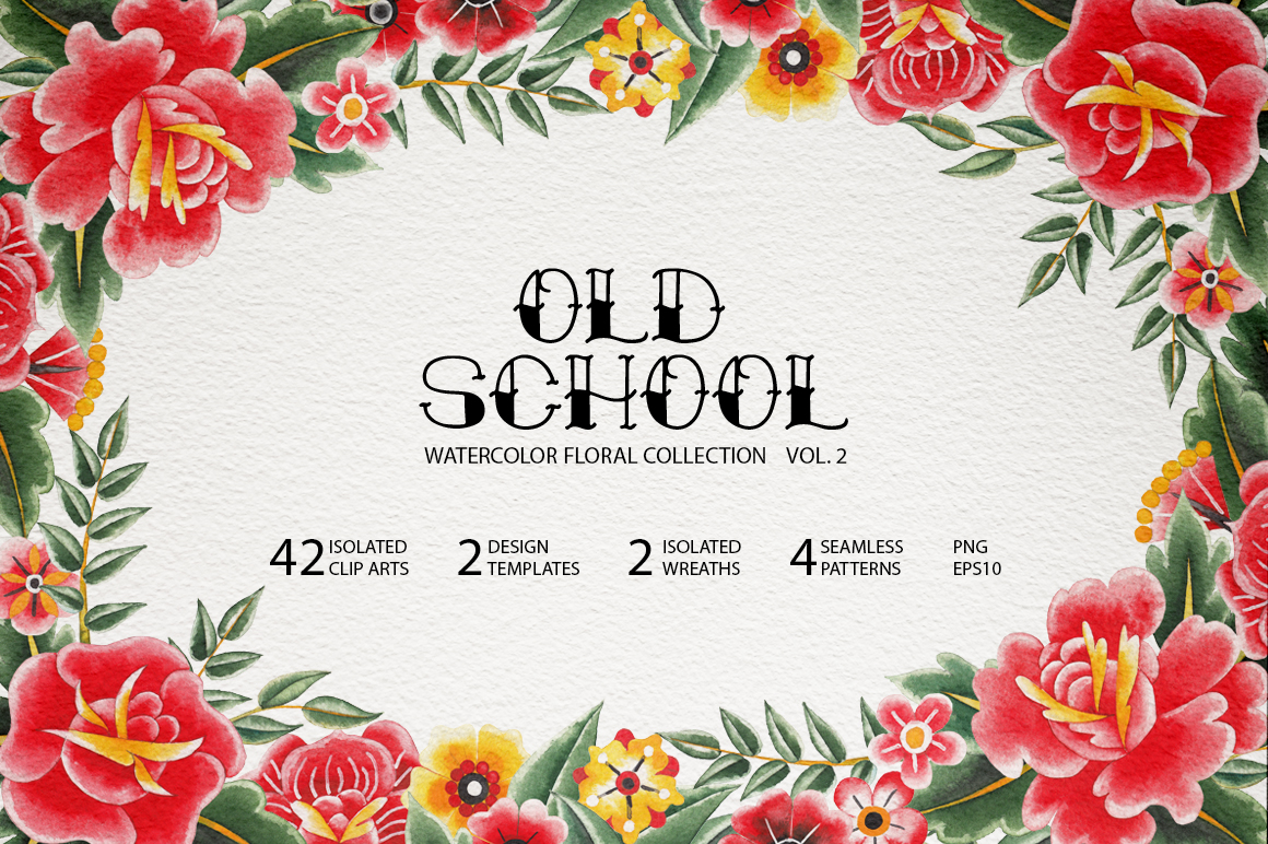 Old school floral collection. Vol. 2