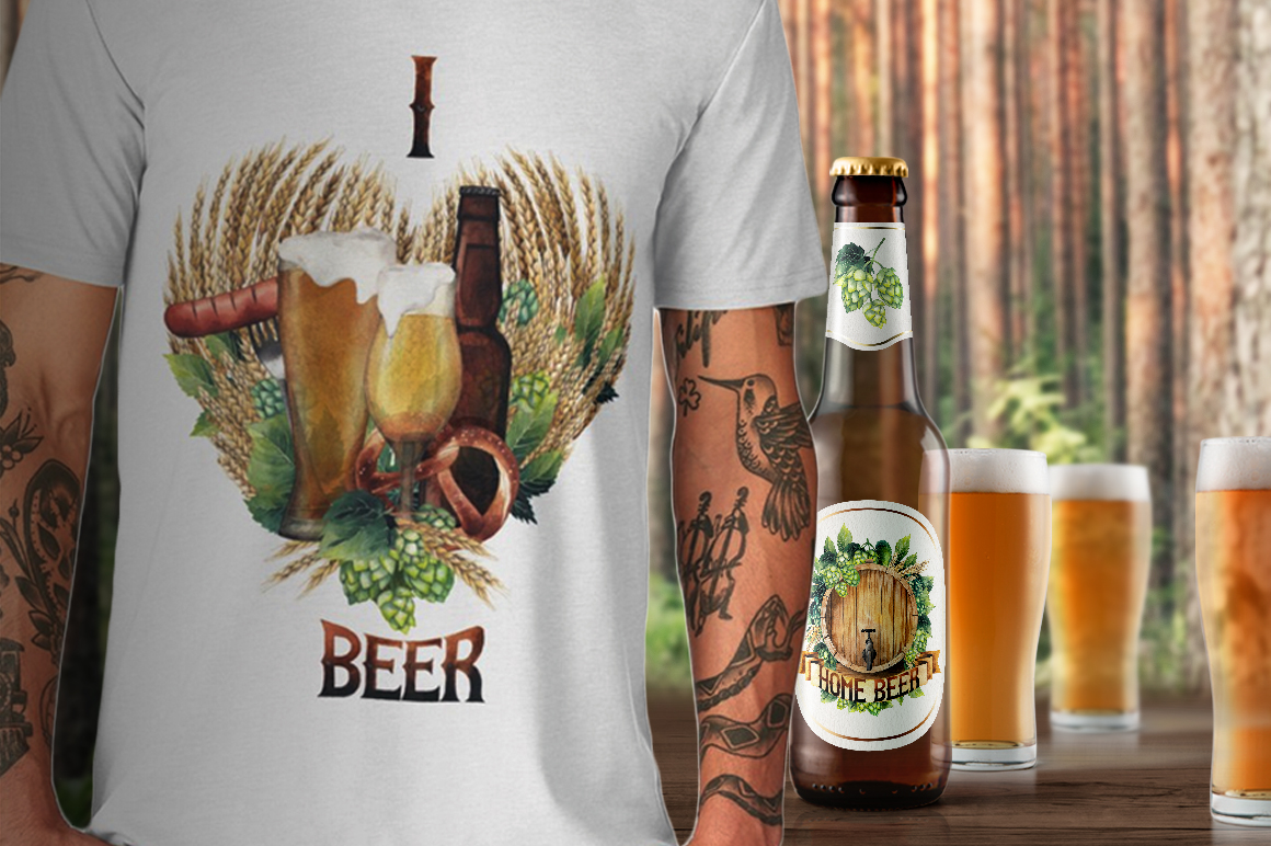 Watercolor beer collection