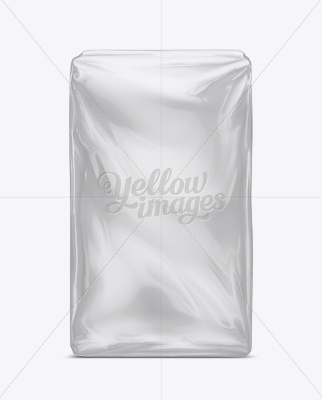 Download Plastic Food Package Mock Up In Bag Sack Mockups On Yellow Images Object Mockups PSD Mockup Templates