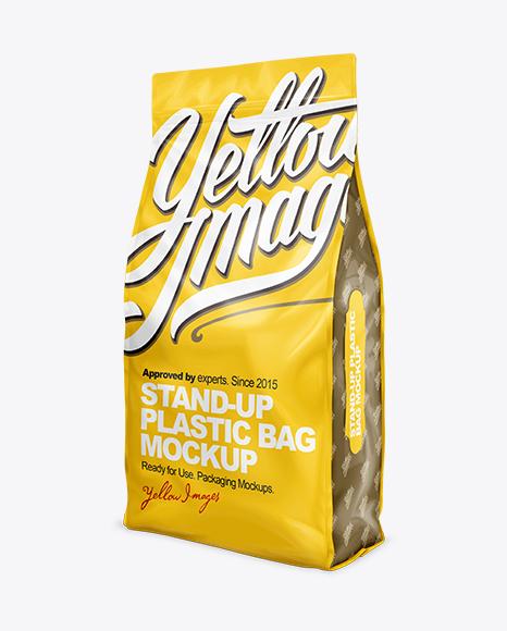 32lb Cat Litter Bag Mock-Up Half-Side View