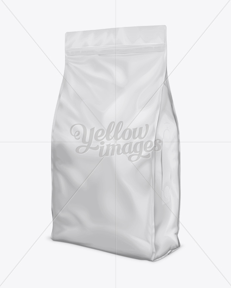46lb Cat Litter Bag Mock-Up - Front 3/4 View