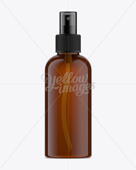 Download Amber Spray Bottle Mockup Free PSD - Free PSD Mockup Templates
