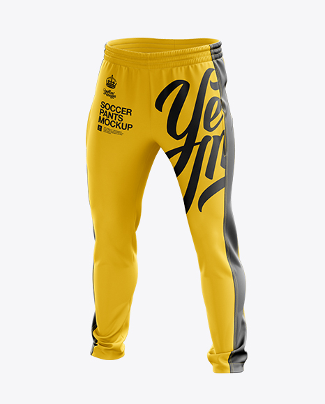 Soccer Pants Mockup - Halfside View