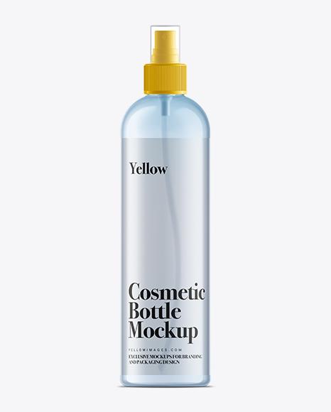 350ml Clear Plastic Boston Bottle Mockup