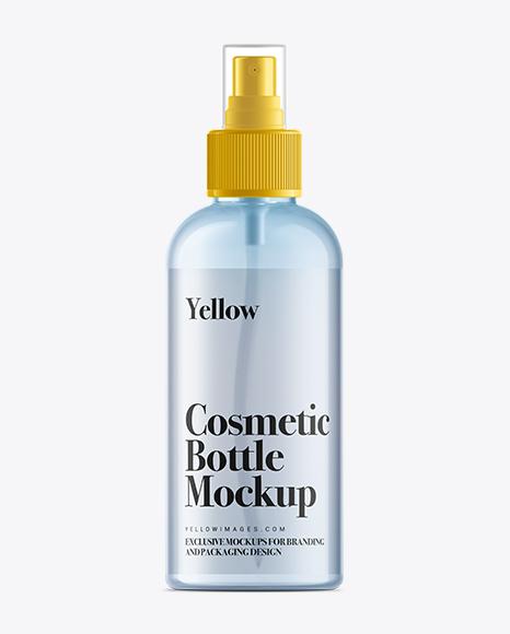100ml Clear Plastic Boston Bottle Mockup