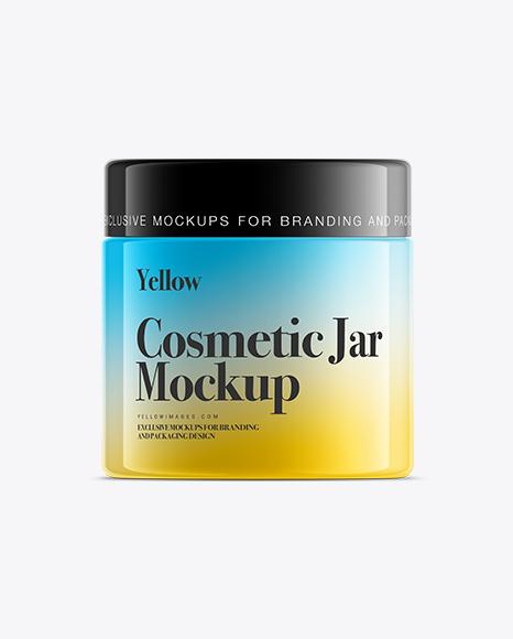 250ml White Plastic Cosmetic Jar Mockup