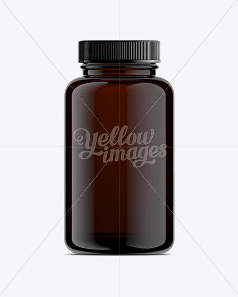 Amber Pill Bottle Mock-Up