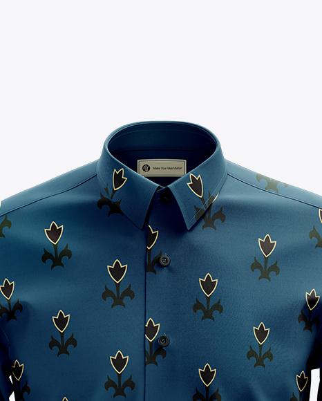 Men's Dress Shirt mockup (Front View)