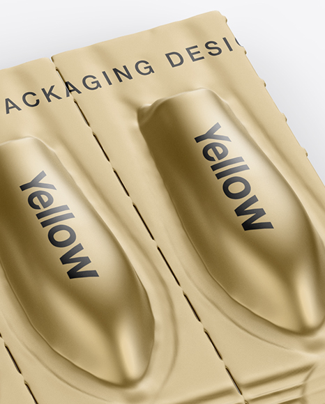 Download Metallic Suppositories Blister Mockup In Packaging Mockups On Yellow Images Object Mockups Yellowimages Mockups