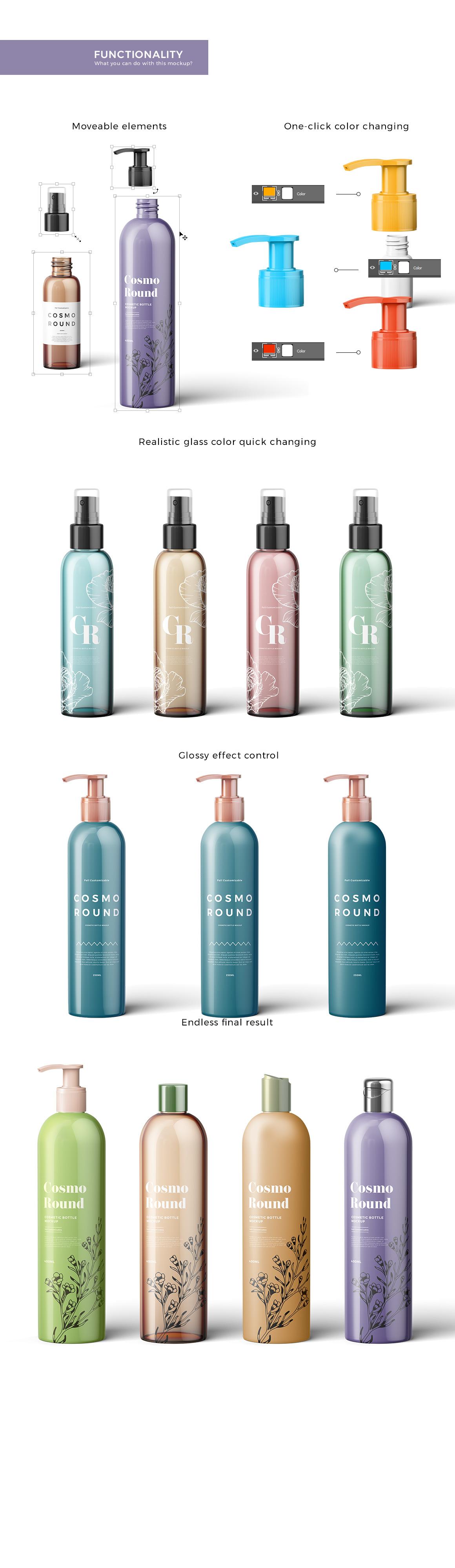Cosmetic Bottles Mockup Vol.3
