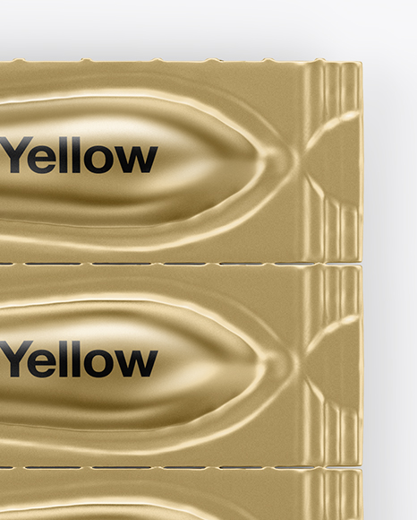 Download Metallic Suppositories Blister Mockup Top View In Packaging Mockups On Yellow Images Object Mockups PSD Mockup Templates
