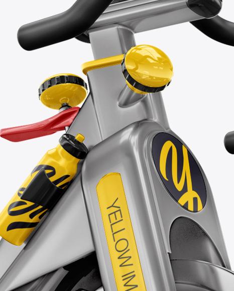 Exercise Bike Mockup - Half Side View