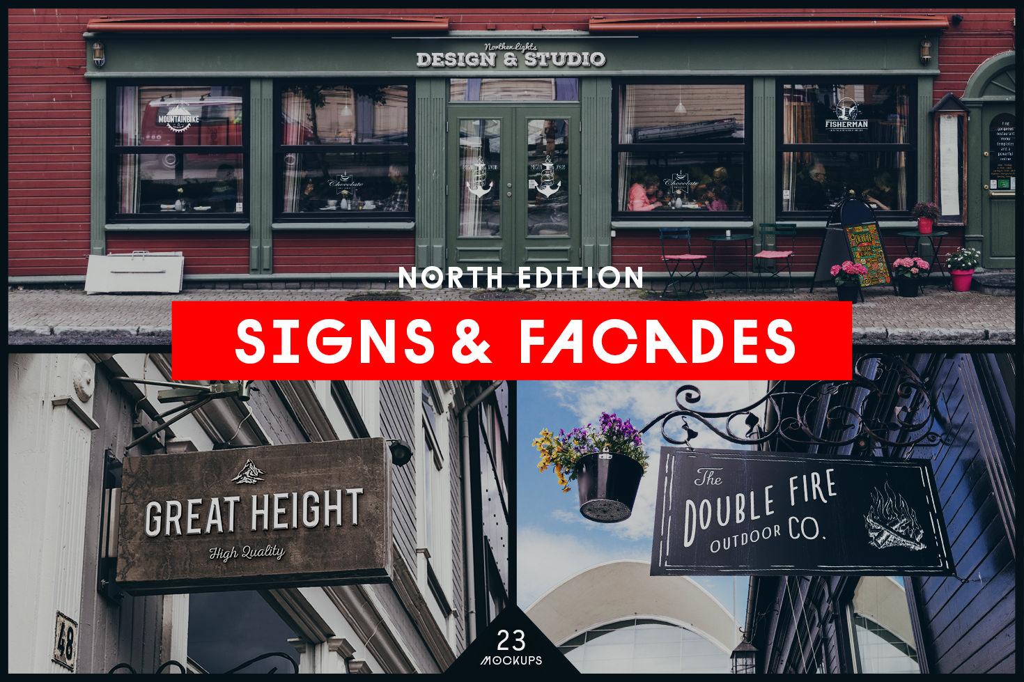 Signs & Facades Mockups - North Edition