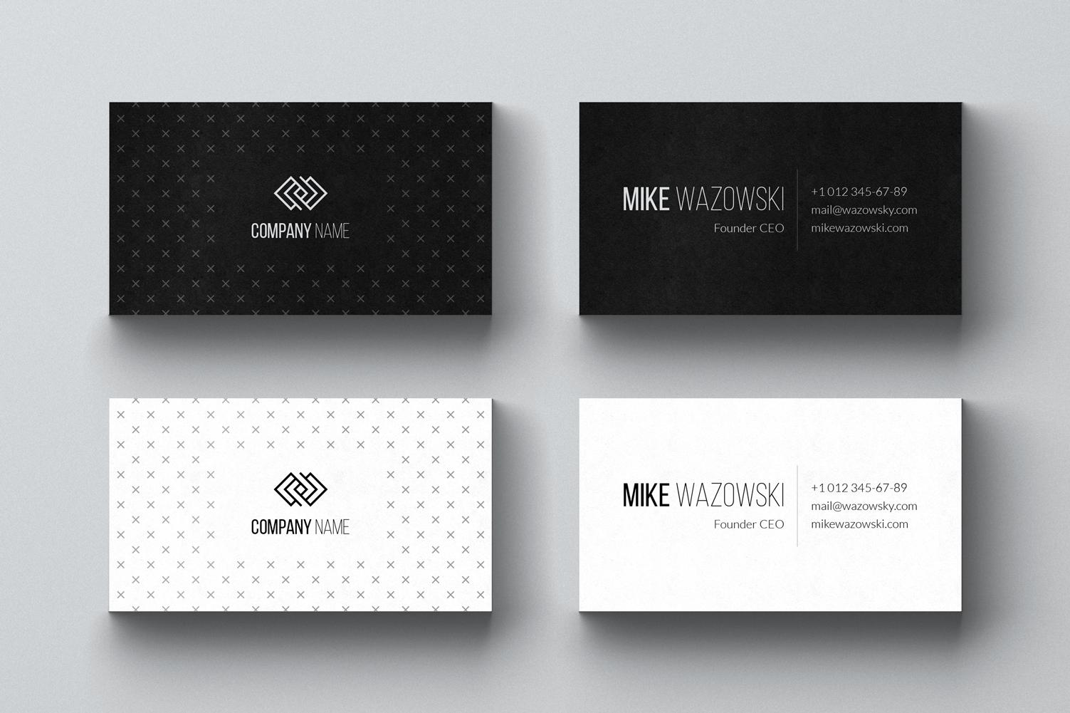 Wazowski. Business Card Template