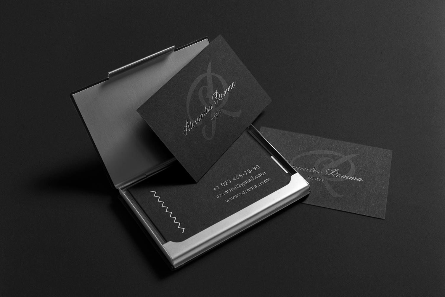 Alexandra. Business card template