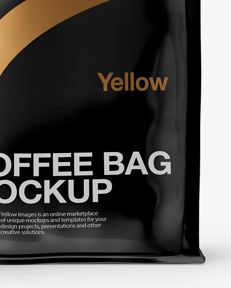 Download Glossy Bag With A Tin Tie Mockup Front View PSD - Free PSD Mockup Templates