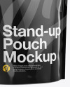 Glossy Stand Up Pouch W/ Zipper Mockup - Half Side View