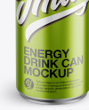 Aluminium Can With Metallic Finish Mockup - Front View (High-Angle Shot)
