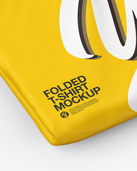 Download Folded T Shirt Mockup Psd Yellow Images