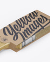 Brush With Wooden Grip & Kraft Label Mockup - Half Side View (High-Angle Shot)