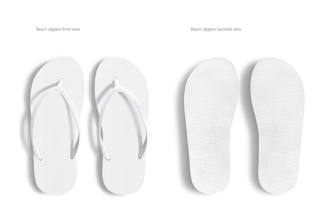 58e355b5895cb Beach Slippers Mockup in Apparel Mockups on Yellow Images Creative Store