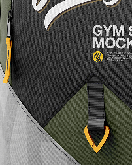 Gym Sack Mockup - Half Side View