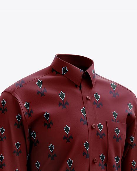 Men's Shirt mockup (Right Half Side View)