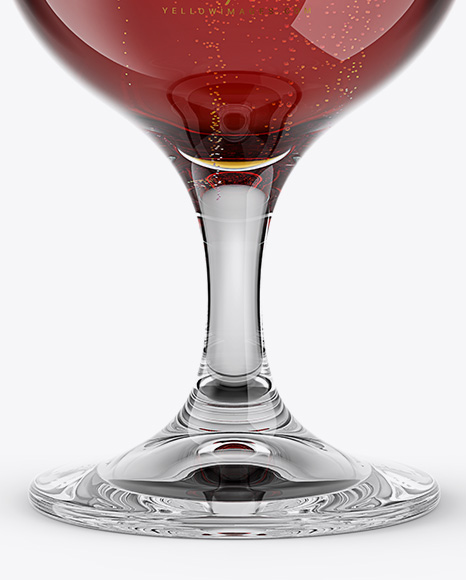 Tulip Glass With Red Ale Mockup