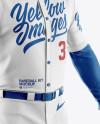 Men's Full Baseball Kit Mockup - Half Side View